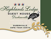 Highlands Lodge in Durbanville Western Cape