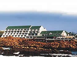 The Point Hotel is built right on the rocks above a huge natural rock pool