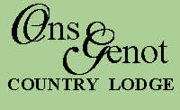 Ons Genot Lodge accommodation in Stellenbosch